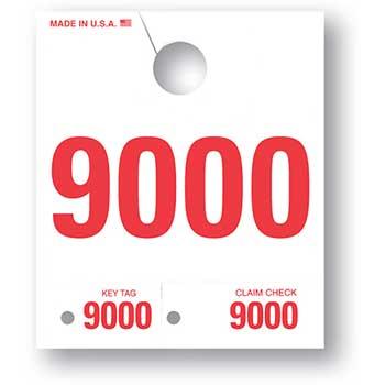 Auto Supplies 4 Digit Dispatch Number, 4DN-9, Series 9000-9999, White, 1000/BX
