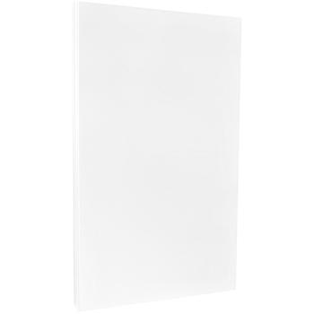 "JAM Paper Legal Cardstock, 80 lb., Glossy 2 Sided, 8 1/2"" x 14"", White, 250/BX"