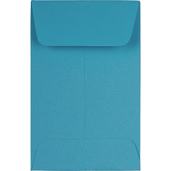"""JAM Paper #1 Coin Business Colored Envelopes, 2 1/4"""" x 3 1/2"""", Blue Recycled, 500/PK"""