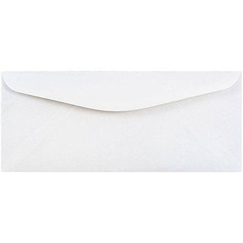 """JAM Paper® #12 Business Envelopes, 4 3/4"""" x 11"""", White, 250/BX"""