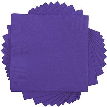 "Small Beverage Napkins, 5"" x 5"", Purple, 250/PK"