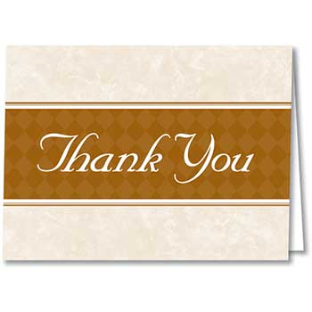 Thank You Card, Thanks For Your Valued Business, 50/PK