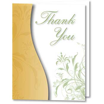 W.B. Mason Auto Supplies Thank You Card, Thank You For Your Recent Purchase, 50/PK
