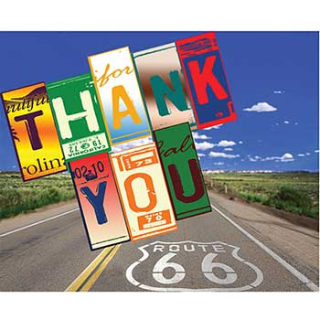 Thank You Card, Route 66, 50/PK
