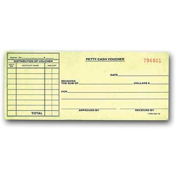 Auto Supplies Petty Cash Voucher, DSA-130, 1000/BX
