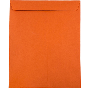 "Open End Catalog Colored Envelopes, 10"" x 13"", Orange Recycled, 100/BX"