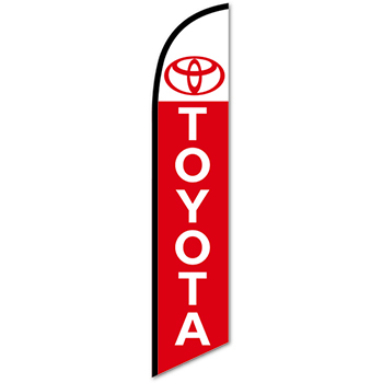 W.B. Mason Auto Supplies Swooper Banner, Toyota, White with Red Letters