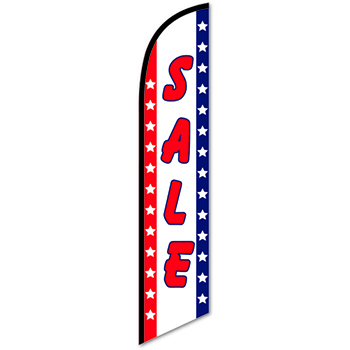 W.B. Mason Auto Supplies Swooper Banner, Sale, Patriotic