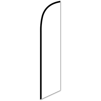 Auto Supplies Swooper Banner, Solid White