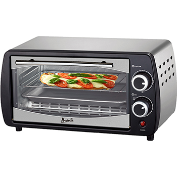 "Toaster Oven, 0.3 cu ft Capacity, Stainless Steel/Black, 15"" W x 10 1/2"" D x 8 1/4"" H, 110 V"