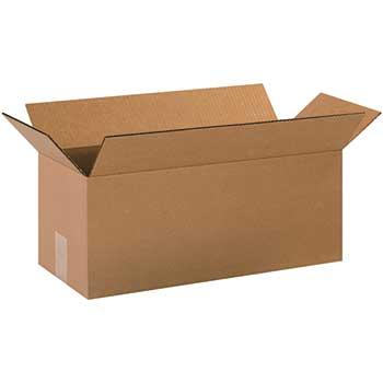 """W.B. Mason Co. Long Corrugated boxes, 20"""" x 8"""" x 8"""", Kraft, 25/BD"""