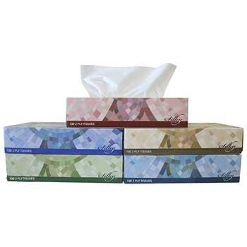 TISSUE 2PLY, 100/BOX, 30 BOX/CASE