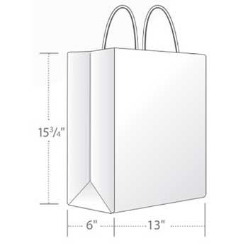 """Duro Bag Traveler Shopping Bag, White, 13"""" x 6"""" x 15.75"""", 60 lb., 250/CT"""