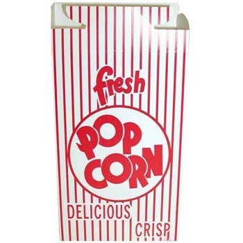 Dixie® Red Automatic Bottom Popcorn Box With Hook and Eye Reclose Top, 500/CT