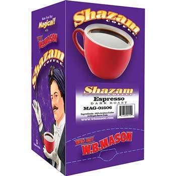 Shazam™ Coffee Pods, Espresso, Dark, 15/BX