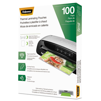 Laminating Pouches, Letter Size, Hot Pouch, 9 x 11.5, 5 mil, 100 pack