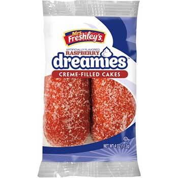 Mrs. Freshley's® Raspberry Dreamies™, 4 oz., 8/BX, 6 BX/CS