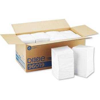 Beverage Napkins, Single-Ply, 9 1/2 x 9 1/2, White, 4000/Carton