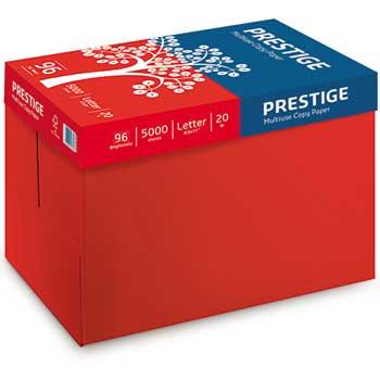 """Prestige® Multi-Use Copy Paper, 8 1/2"""" x 11"""", 20 lb., 96 Bright, 5,000/CT"""