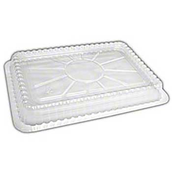 Clear Plastic Oblong Dome Lid For 4# Container, 250/CS