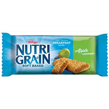 Nutri-Grain Cereal Bars, Apple-Cinnamon, Indv Wrapped 1.3oz Bar, 16/BX
