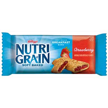 Nutri-Grain Cereal Bars, Strawberry, Indv Wrapped 1.3oz Bar, 16/BX