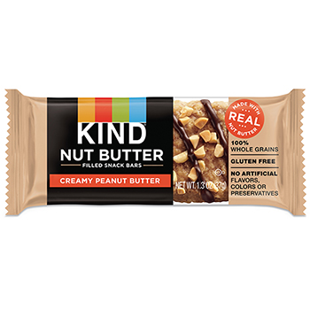 KIND Nut Butter Filled Snack Bars, Creamy Peanut Butter, 5.2 oz., 4/PK