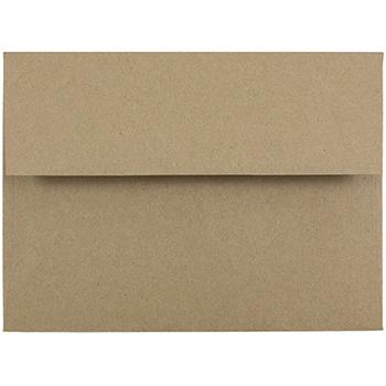 "A6 Premium Invitation Envelopes, 4 3/4"" x 6 1/2"", Brown Kraft Paper Bag, 250/CT"