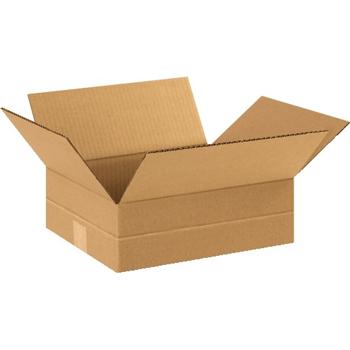 """W.B. Mason Co. Multi-Depth Corrugated boxes, 12"""" x 10"""" x 4"""", Kraft, 25/BD"""