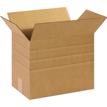 """W.B. Mason Co. Multi-Depth Corrugated boxes, 14 1/2"""" x 8 3/4"""" x 12"""", Kraft, 25/BD"""