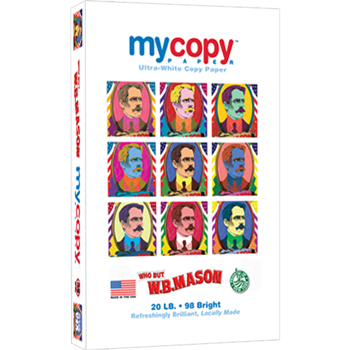 mycopy™ Ultra-White Copy Paper, 98 Bright, 20 lb., 8 1/2 x 14, White, 500/RM