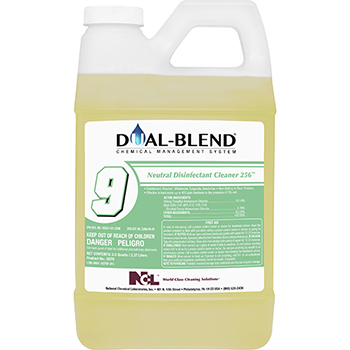 National Chemical Laboratories Dual Blend #9, Neutral Disinfectant, 80 oz, 4/CS