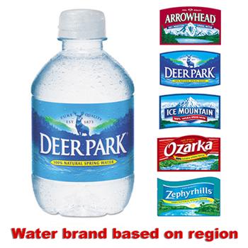 Natural Spring Water, 8 oz Bottle, 48 Bottles/Carton
