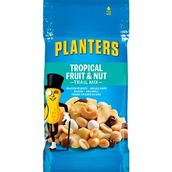 Planters® Trail Mix, Tropical Fruit & Nut, 2 oz. Bag, 72/CT
