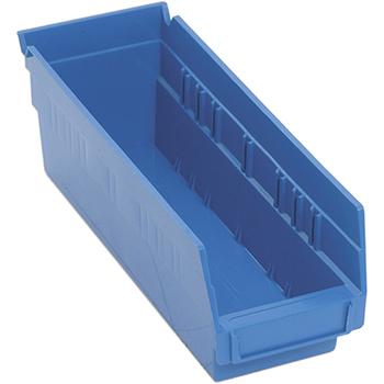 """Quantum® Storage Systems Economy Shelf Bins, 11-5/8"""" x 4-1/8"""" x 4"""", Blue, 36/CT"""