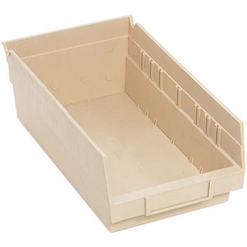 """Economy Shelf Bins, 11-5/8"""" x 6-5/8"""" x 4"""", Ivory, 30/CT"""