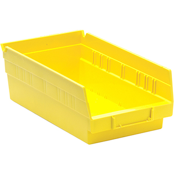 """Quantum® Storage Systems Economy Shelf Bins, 11-5/8"""" x 6-5/8"""" x 4"""", Yellow, 30/CT"""