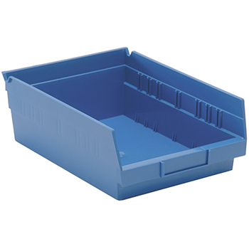 "Economy Shelf Bins, 11-5/8"" x 8-3/8"" x 4"", Blue, 20/CT"