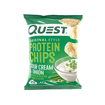 Quest Nutrition Original Style Protein Chips, Sour Cream & Onion Flavor, 8/CS