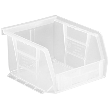 "Quantum® Storage Systems Economy Shelf Bins, 5"" x 4-1/8"" x 3"", Clear, 24/CT"