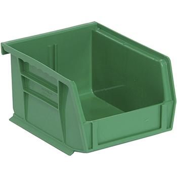 """Quantum® Storage Systems Economy Shelf Bins, 5"""" x 4-1/8"""" x 3"""", Green, 24/CT"""