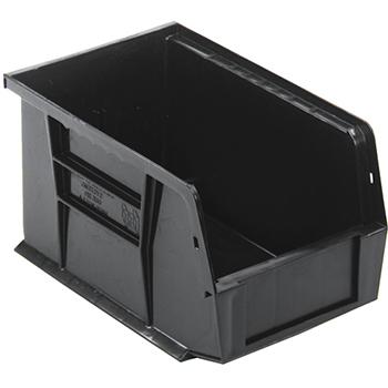 """Quantum® Storage Systems Economy Shelf Bins, 9-1/4"""", x 6"""", x 5"""", Black, 12/CT"""