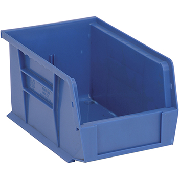 """Quantum® Storage Systems Economy Shelf Bins, 9-1/4"""", x 6"""", x 5"""", Blue, 12/CT"""