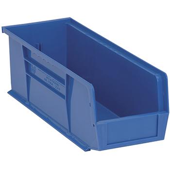 """Quantum® Storage Systems Economy Shelf Bins, 14-3/4"""", x 5-1/2"""" x 5"""", Blue, 12/CT"""