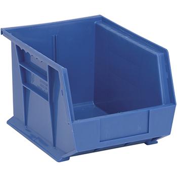 "Quantum® Storage Systems Ultra Stack & Hang Bins, 10-3/4"" x 8-1/4"" x 7"", Blue, 6/CT"