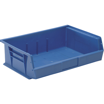 "Ultra Stack & Hang Bins, 10-7/8"", x 16-1/2"" x 5"", Blue, 6/CT"