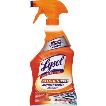 LYSOL® Brand Kitchen Pro Antibacterial Cleaner, Citrus Scent, 22 oz. Spray Bottle, 9/CT