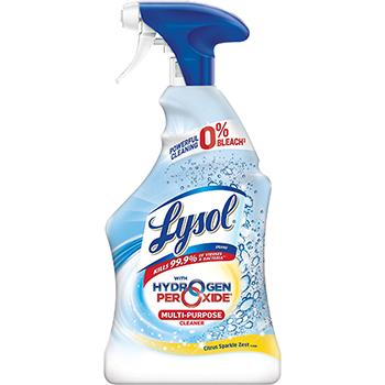LYSOL® Brand Multi-Purpose Hydrogen Peroxide Cleaner, Citrus Sparkle Zest, 22 oz Spray Bottle