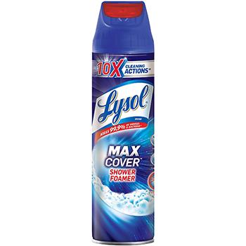 LYSOL® Brand Max Foamer Bathroom Cleaner, Fresh Scent, 19 oz Aerosol, 12/Carton