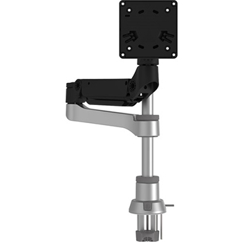 R-Go Tools Caparo D2 Circular Single Monitor Arm Desk Mount